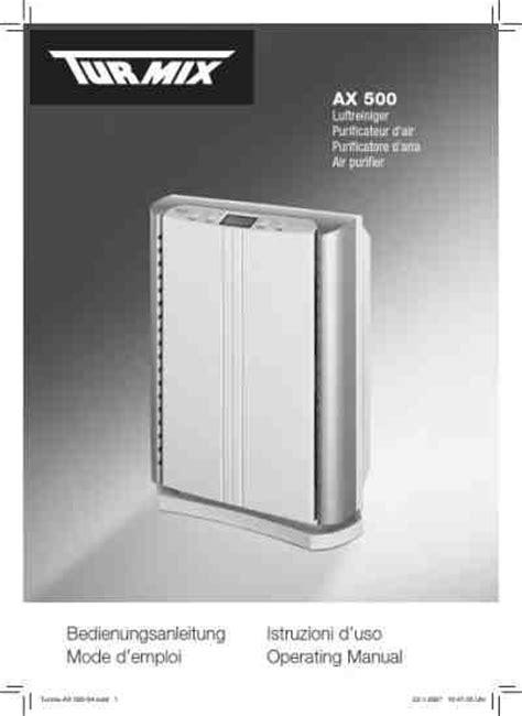 turmix ax 500 air cleaner air purifier air humidifier manual for free now 363fe u