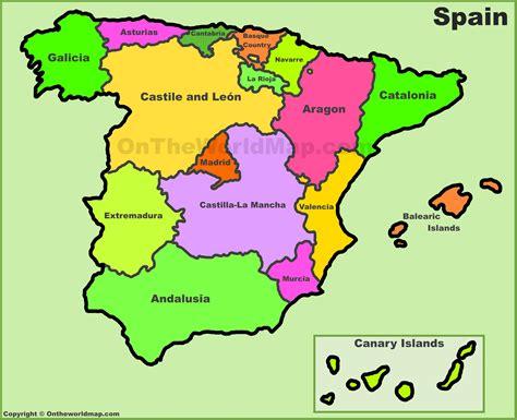 map spain spain political map