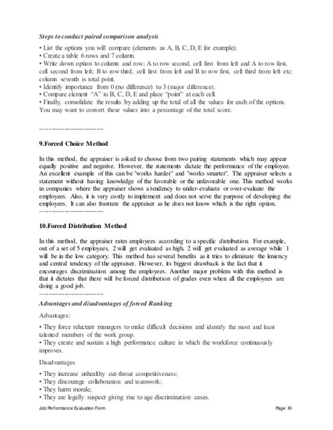 performance appraisal form for staff hashdoc