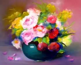 fleurs en vase huiles sur toiles