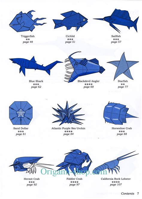 Origami Sea Creatures - easy origami sea animals comot