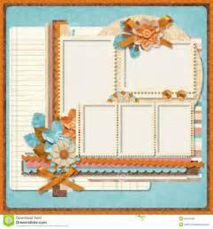 retro family album 365 project scrapbooking templates