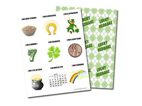 printable hedbanz cards lucky hedbanz the crafting chicks