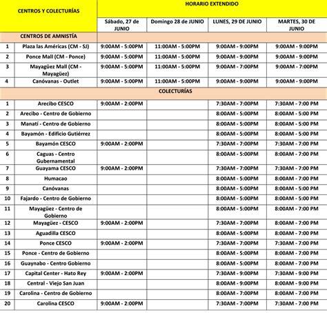 tabla contributiva 2015 pr hacienda anuncia horario especial de los centros de