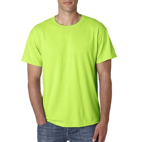 Tshirtt Shirt Cr7 A safety green neon s sleeve t shirt solid blank plain s m l xl ebay