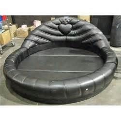 round leather bed round black leather bed