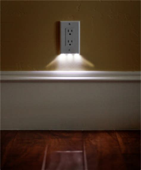built in night light outlet night light that is built into the face of the outlet