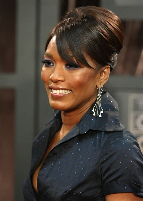 Angela Bassett Hairstyles by Angela Bassett S Updo Haute Hairstyles For 50