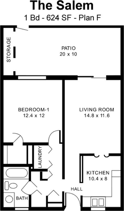salem cers floor plans the salem f 1 bed 1 bath one story