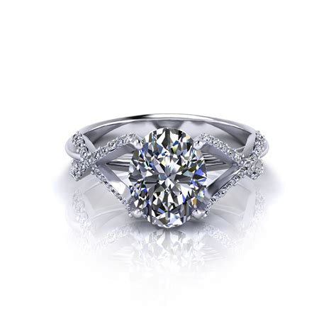 Crossover Oval Engagement Ring   Jewelry Designs