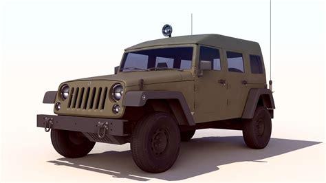 jeep wrangler military wrangler military jeep sufa 3 3d model max cgtrader com