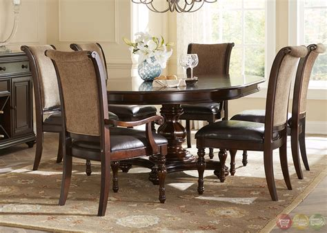dining room table set kingston plantation traditional oval table chairs 7 pc