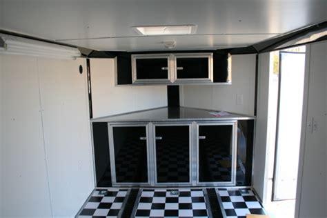 v nose enclosed trailer cabinets mf cabinets