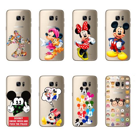 Mickey And Minnie Mouse X2242 Samsung Galaxy A5 2017 Print 3d Cas lovely minnie mickey mouse tpu soft silicone covers for samsung galaxy c5 c7 a9 a8