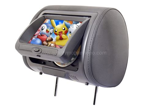 Headrest Monitor Led gryphon mobile vission mv s7 7 quot dvd headrests with digital led panel built in dvd player 3