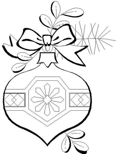 Free Coloring Pages Christmas Ornaments Coloring Page Ornaments To Color
