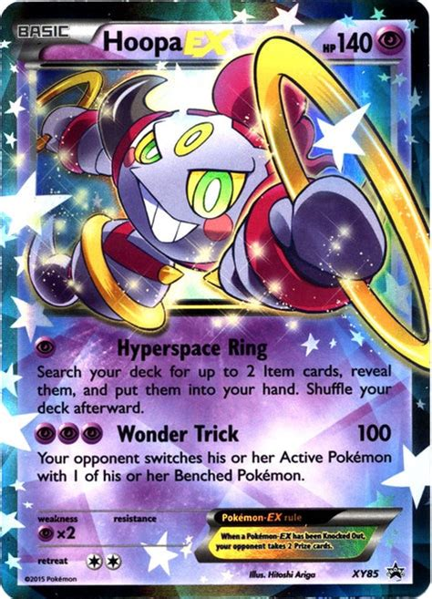 x cards x y promo single card promo ultra holo hoopa