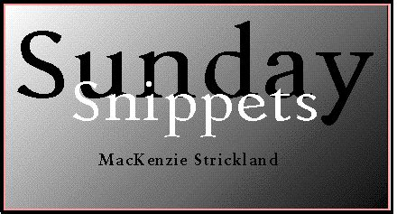 A Few Sunday Snippets by Sunday Snippets