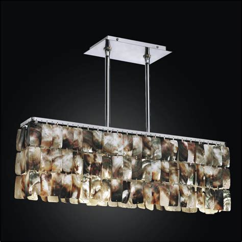 Linear Chandelier Mother Of Pearl Light Fixture 622 Pearl Lights