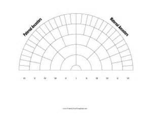 Family Tree Fan Chart Template by 6 Generation Family Tree Fan Chart Template
