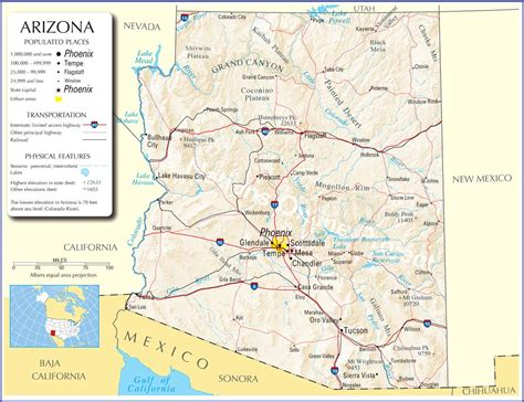 arizona state on us map map of arizona pictures to pin on pinsdaddy