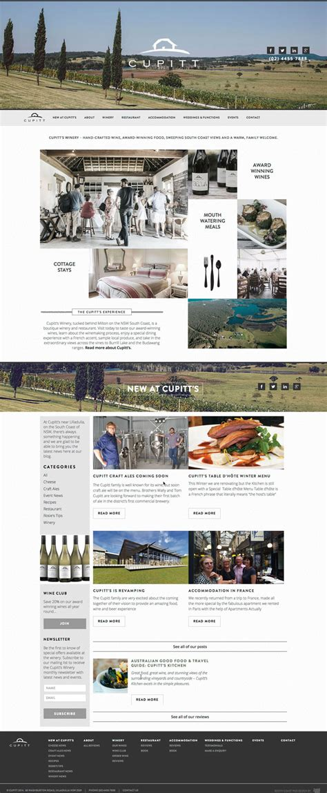 Handcrafted Websites - cupitt s winery website design handmade web design