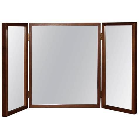 Vanity Folding Mirror by Teak Folding Vanity Or Wall Mirror For Sale At 1stdibs