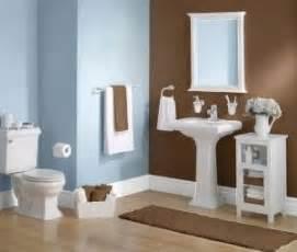 Blue and brown bathroom decor interior design for house