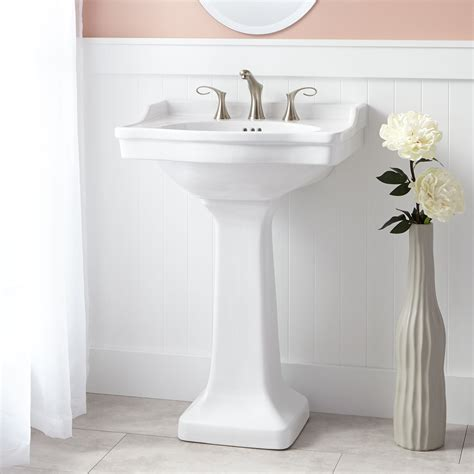 bathroom with pedestal sink cierra porcelain pedestal sink bathroom