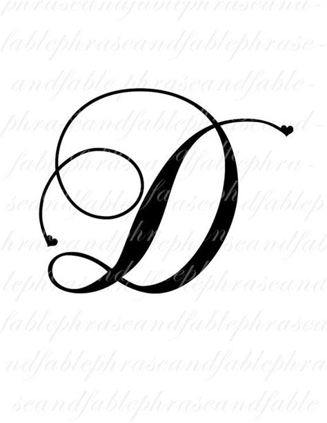 the letter d tattoo designs letter d hearts 275 digital alphabet by