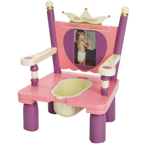 princess and chairs her majesty s throne princess wooden potty potty