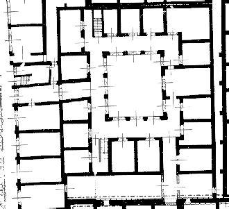 roman insula floor plan rome ostie les horrea maquetland com le monde de la