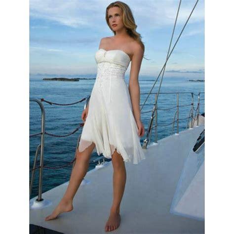 casual beach wedding dresses short   loose