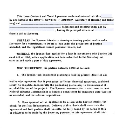 Trust Agreement Template 28 Images Microsoft Word Ira Trust Template Free Trust Agreement Trust Loan Agreement Template