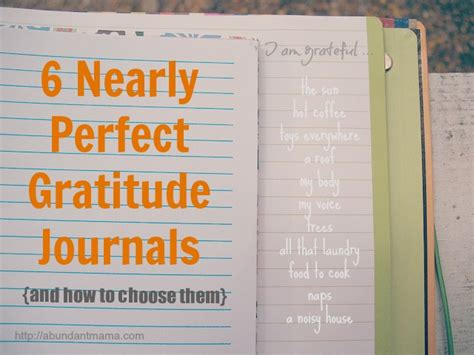 Brown Nightstand 6 Nearly Perfect Gratitude Journals Abundant Mama