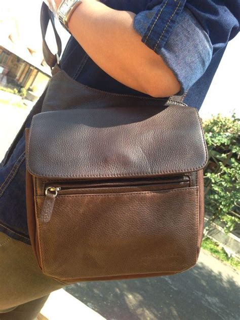 Fossil Lennox Crossbody Multi Brown Leather Tas Fossil Original wts tas 100 authentic fossil brown pebble leather
