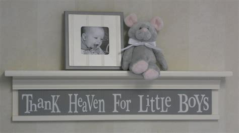 Baby Boy Room Decor Grey by Thank Heaven For Boys Sign Painted In Grey On
