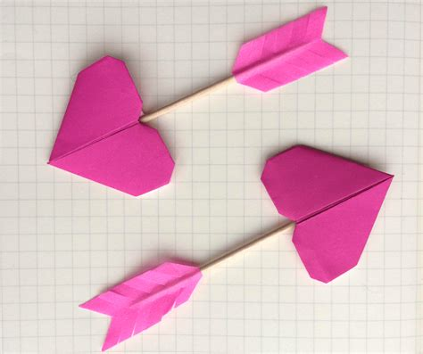 Origami Valentines Day - origami cupid s arrow tutorial the paperdashery
