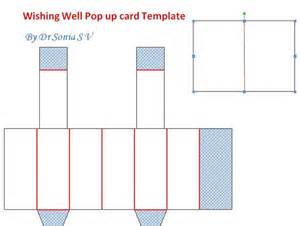 well template cards crafts projects wishing well pop up card and