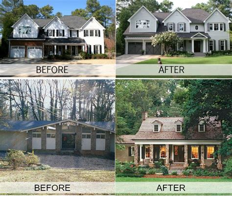 before and after homes 10 images about ugly house makeovers on pinterest