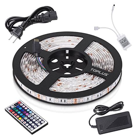ge led strip light kit 12 toplus led strip lights kit waterproof smd 5050 rgb 16 4ft