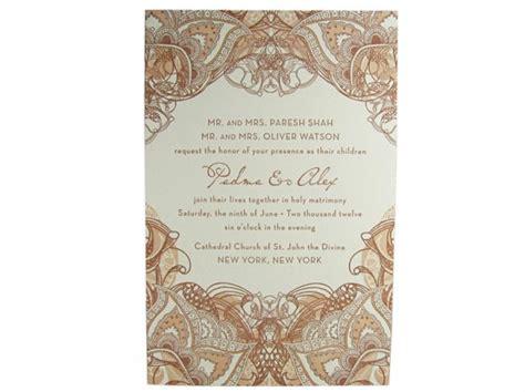 henna design invitation mehndi letterpress wedding invitation digby rose