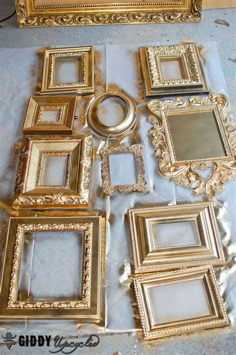 Hometalk Vintage Frames Spray Painted White For Gallery Wall