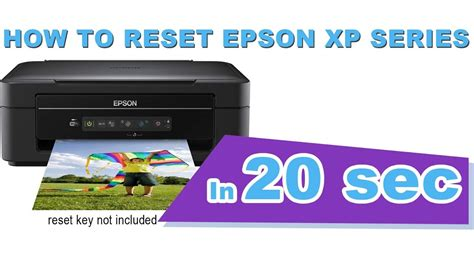 reset epson printer to default reset epson xp 225 in short time youtube