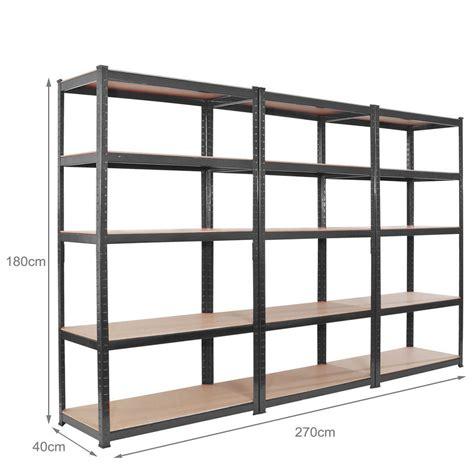 industrial storage shelves blue 3 bay 180cm metal shelving industrial boltless racking 5 tier shelves shelf ebay