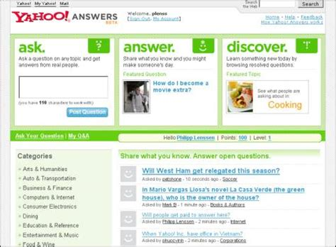 yahoo email questions answers using yahoo answers to capture long tail searches