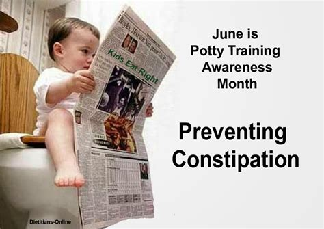 potty stool withholding dietitians potty awareness month
