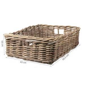 paniers en osier pour rangement rangement sous lit osier