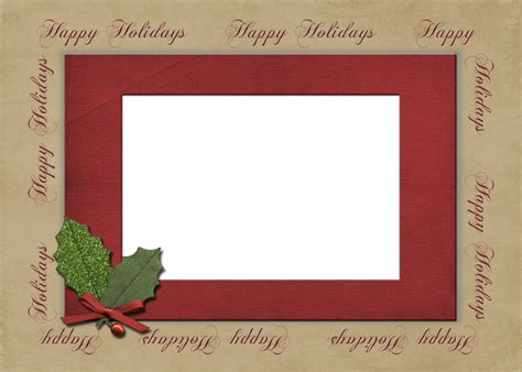 Happy Holidays Photo Card Template Free photo card template album prestophoto