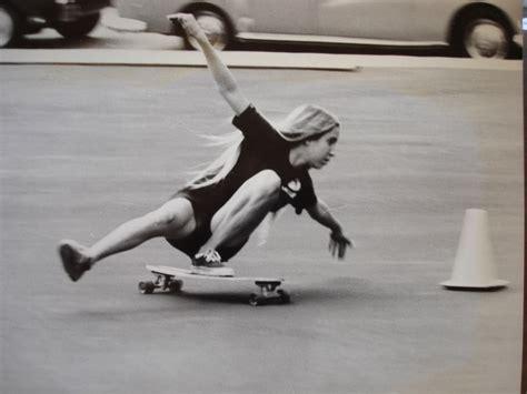 1960s famous women skaters skateboarding shorts long hair 1970 s 70 s seventies